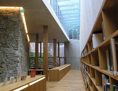 Stadtbücherei-Tageslicht Basisgeschoss