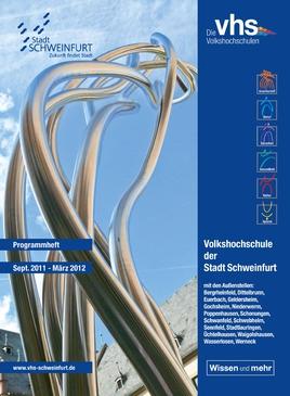 Volkshochschule 2011 - Titelseite Heft 2011-2012