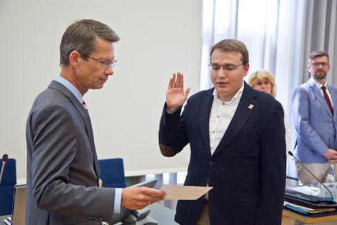 Stadtrat SPD J. Petersen Vereidigung Juli 2018 - Foto (c) Stefan Pfister (1)