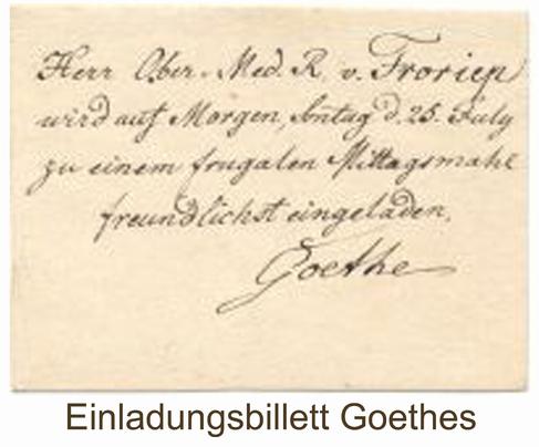 Goethe Visitenkarte