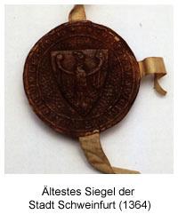 ältestes Siegel der Stadt Schweinfurt