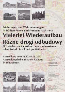Plakat Vielerlei Wiederaufbau