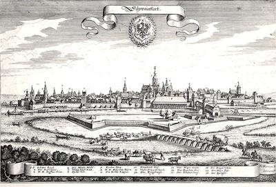 Stadtansicht von Süden, City view from south 1646-48 (Matthäus Merian)