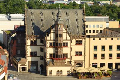 Altes Rathaus schräg von oben