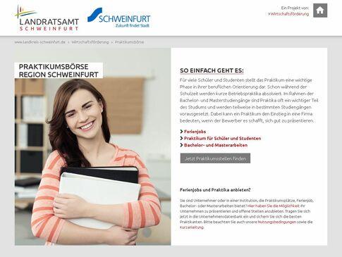 Homepage Praktikumsbörse