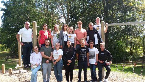 Foto Azubis bei den Kennenlerntagen in der Rhön