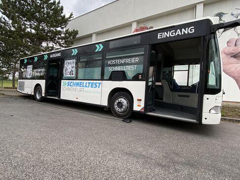 Schnelltest-Bus für Schweinfurt