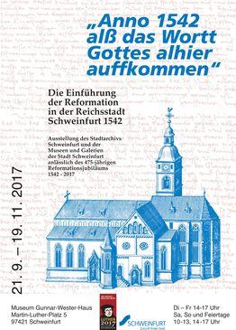Reformation 475 Jahre Ausstellung Plakat