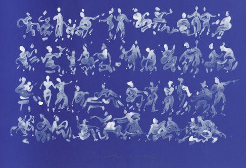 Peter Wörfel, 10.07.2017 aus der 8-teiligen Serie 4x blau, 4 x weiß,Copyright Thomas Witt, Hanau
