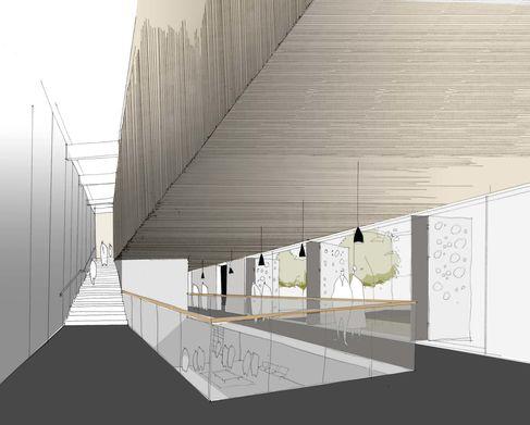 Kulturforum Entwurf 1. Preisträger Skizze Foyer - Foto (c) Heinle, Wischer und Partner Freie Architekten Köln