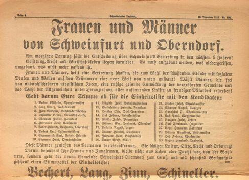 Stadtrat 100 Jahre Parteianzeige SW-Tagblatt 20.12.1919 - Foto (2)
