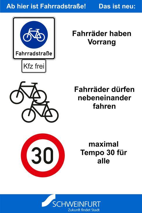 Fahrradstraße Gustav-Heusinger-St. - Foto (c) Stadt Schweinfurt