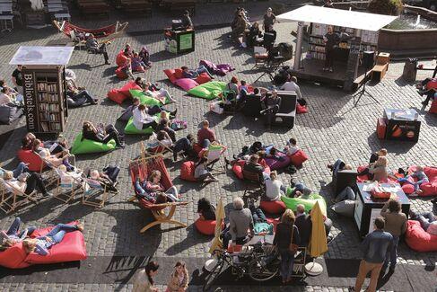 (c) Innovationswerkstatt ? StadtLesen zieht viele Besucher an.
